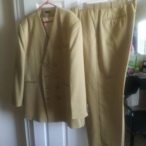 3 Piece Men Gold Suit